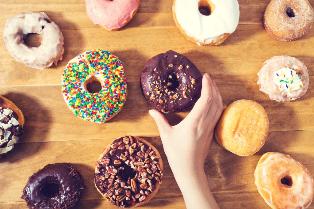 1日に摂取している糖質の量が多い